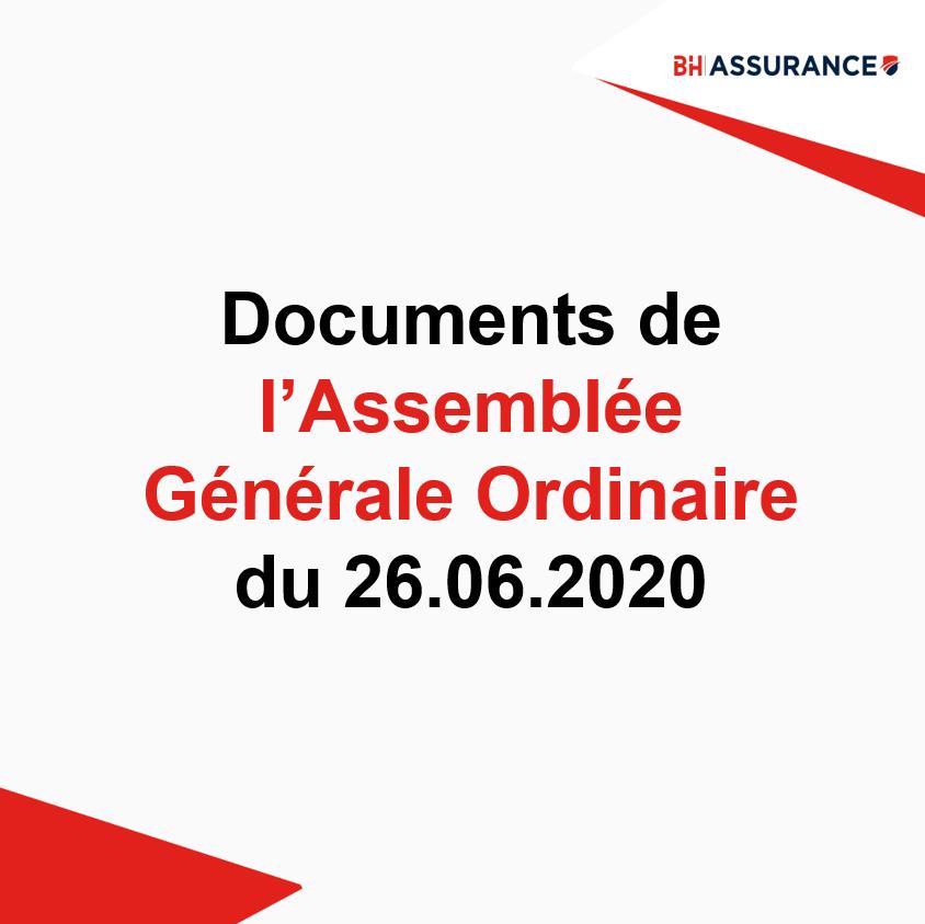 Documents d'assemblée Générale ordinaire du 26.06.2020
